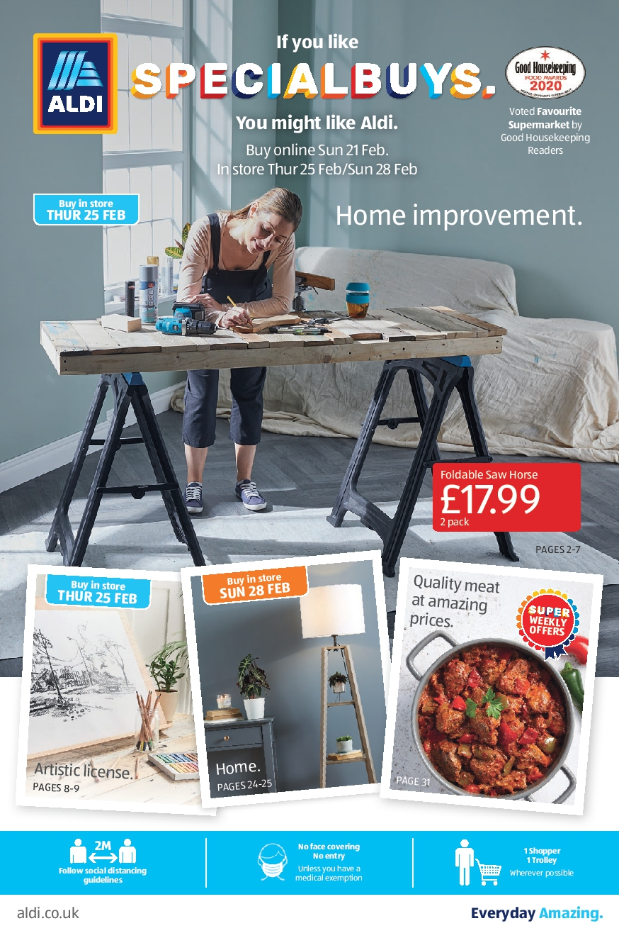 ALDI Leaflet 21st February - 28th February 2021 ALDI SpecialBuys this Week