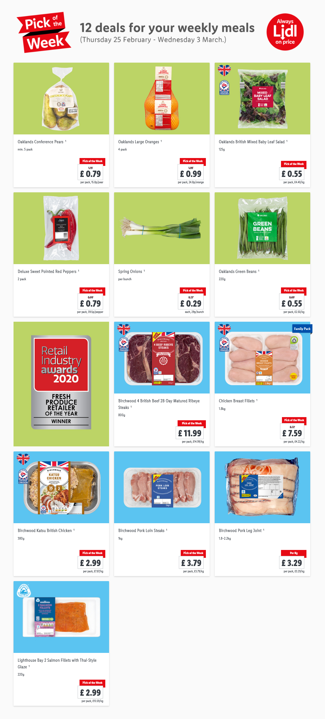 LIDL Pick of The Week 25th February – 3rd March 2021
