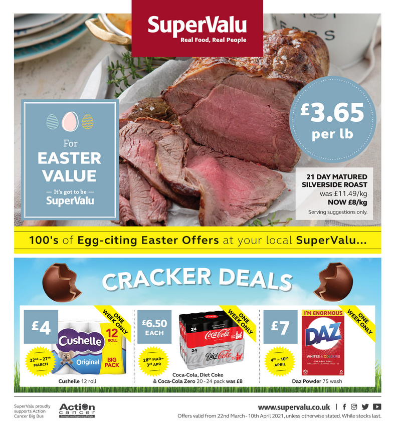 SuperValu Offers 8th March – 28th March 2021 Supervalu deals