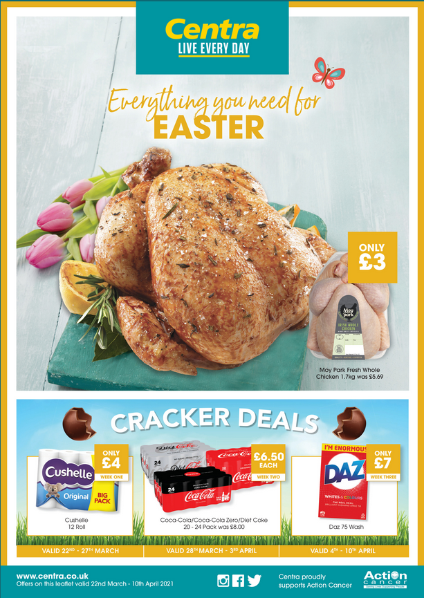 Centra Offers 22nd March to 10th April 2021 Centra Deals