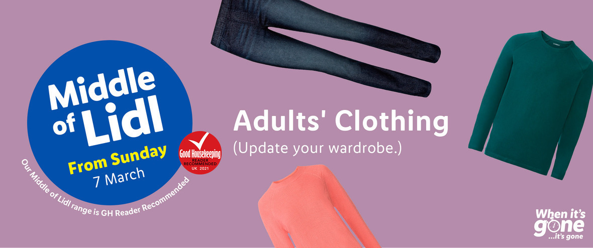 LIDL Sunday Offers 7th March 2021 LIDL Adults Clothing