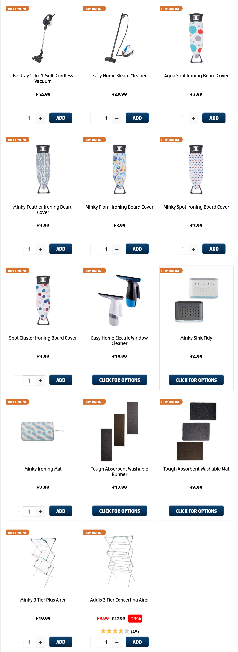 ALDI Sunday Offers Laundry & Cleaning 14th March 2021