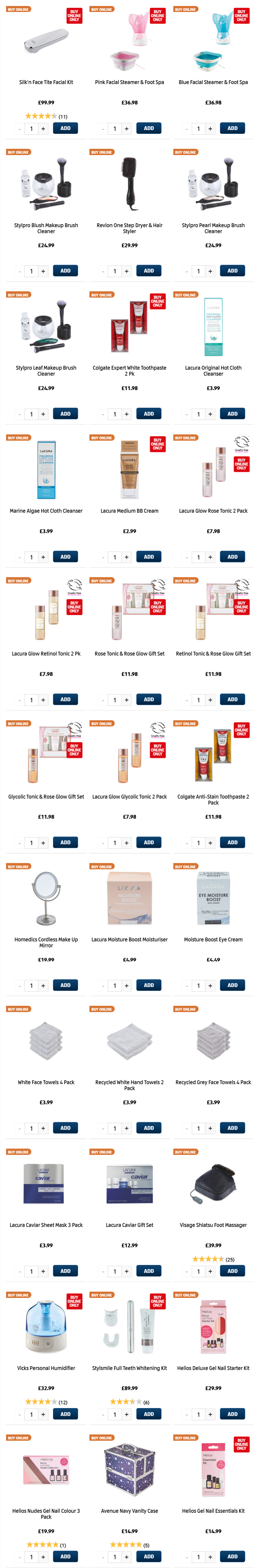 ALDI Sunday Offers Health & Beauty 7th March 2021