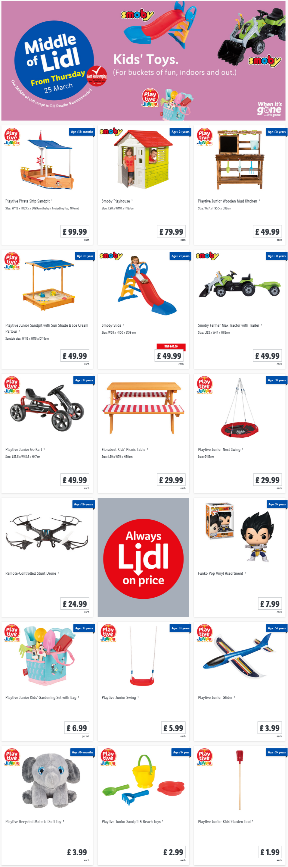 LiDL Kids Toys From 25th March 2021 LIDL Offers this Thursday