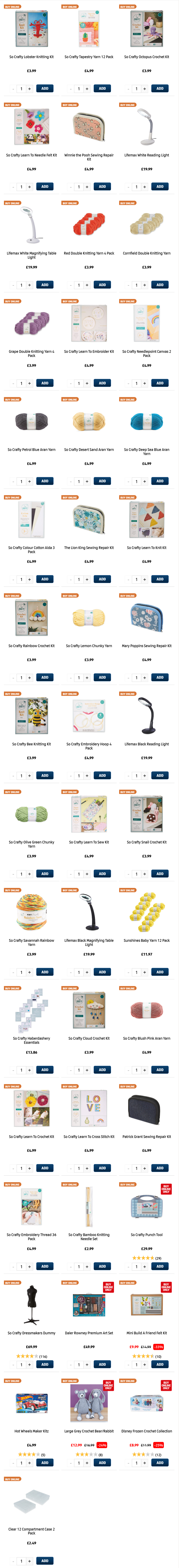 ALDI Thursday Offers Hobbies & Crafts 4th March 2021