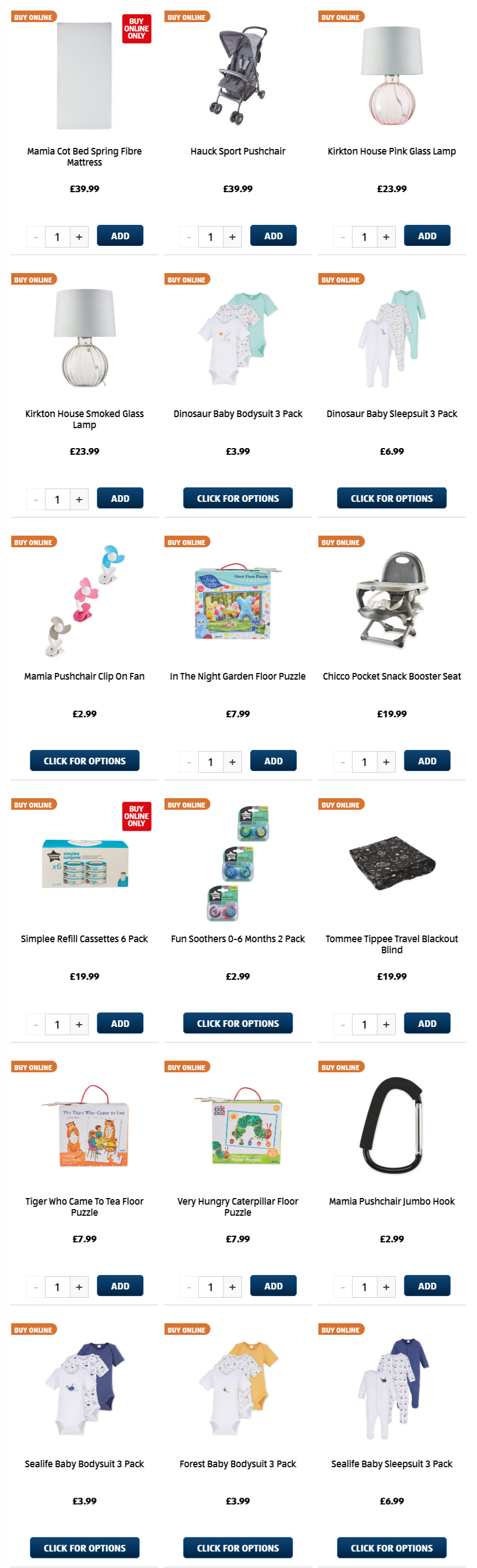 ALDI Monday Offers Baby & Toddler 5th April 2021