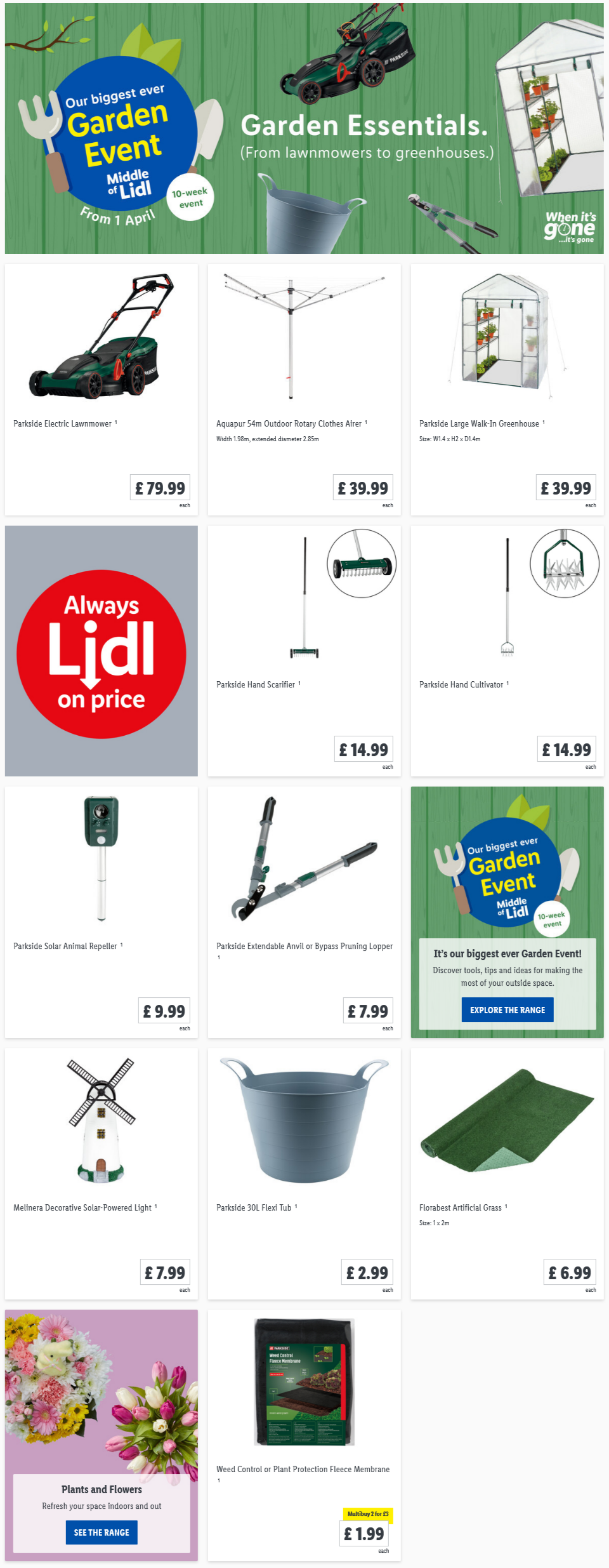 LIDL Offers this Thursday From 1st April 2021 LIDL Gardening Event