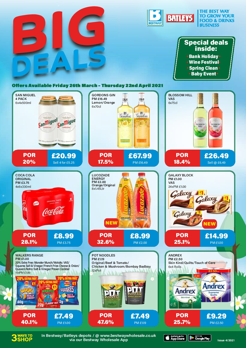 Bestway Wholesale Offers 26th Mar – 22nd Apr 2021 Bestway Deals