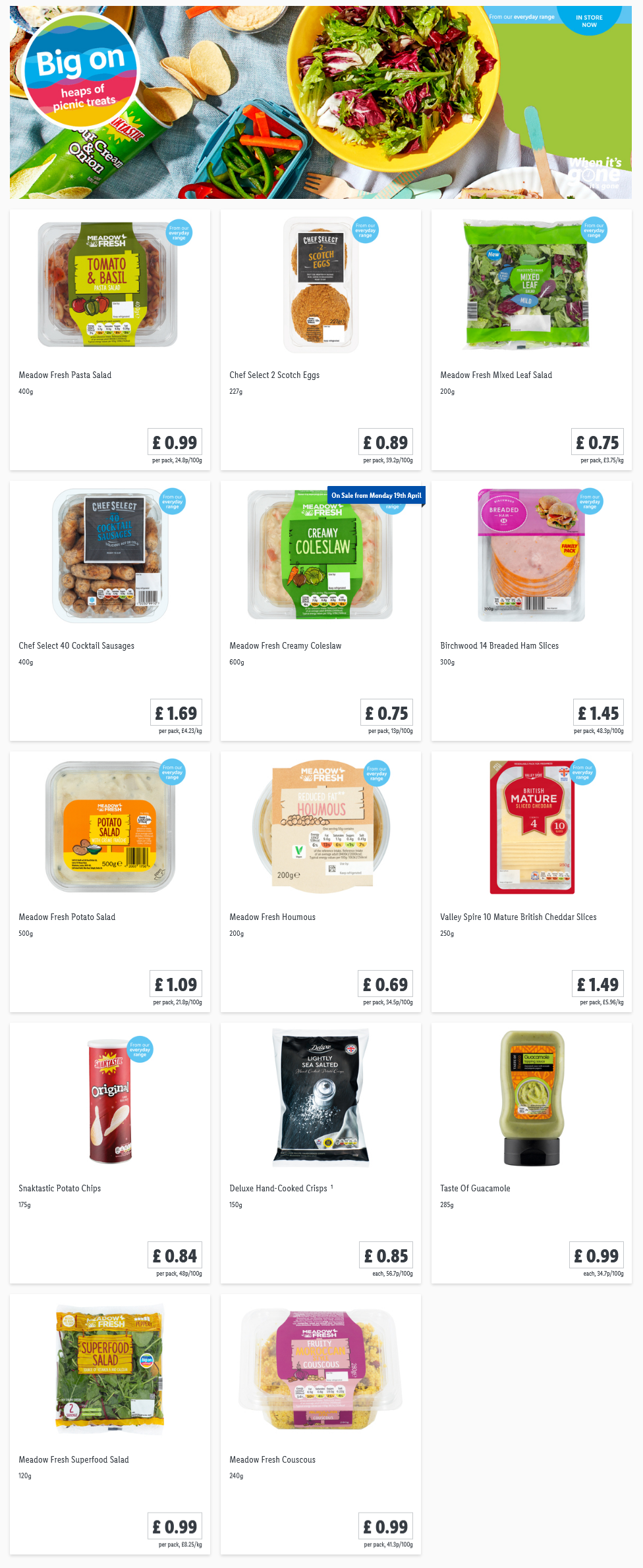 LIDL Offers this Thursday From 8th April 2021 LIDL Picnic