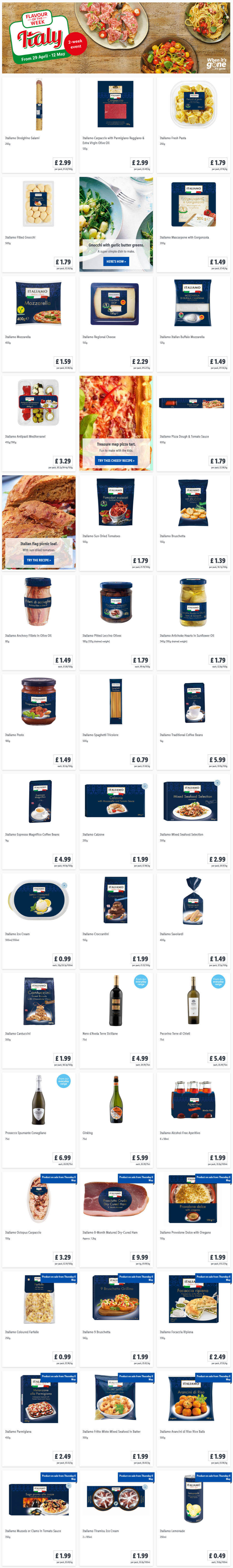 LIDL Offers this Thursday From 29th April 2021 LIDL Flavour of The Week Italian