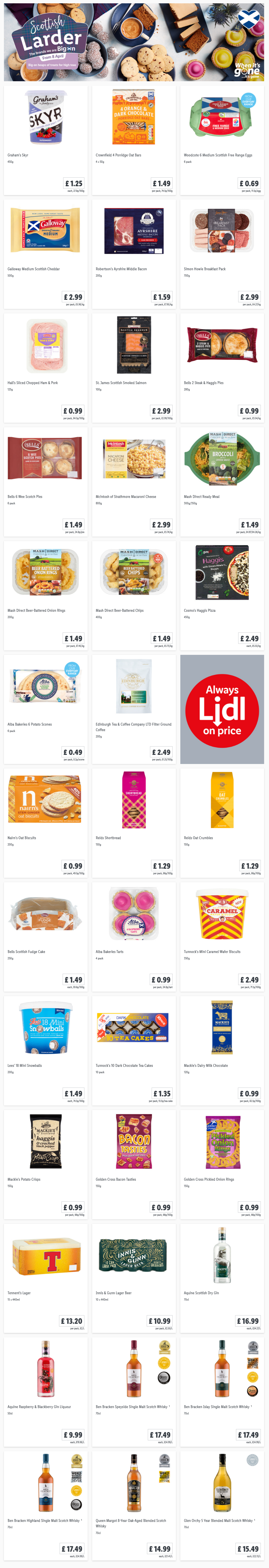 LIDL Offers this Thursday From 8th April 2021 LIDL Scottish Larder (Scotland Only)