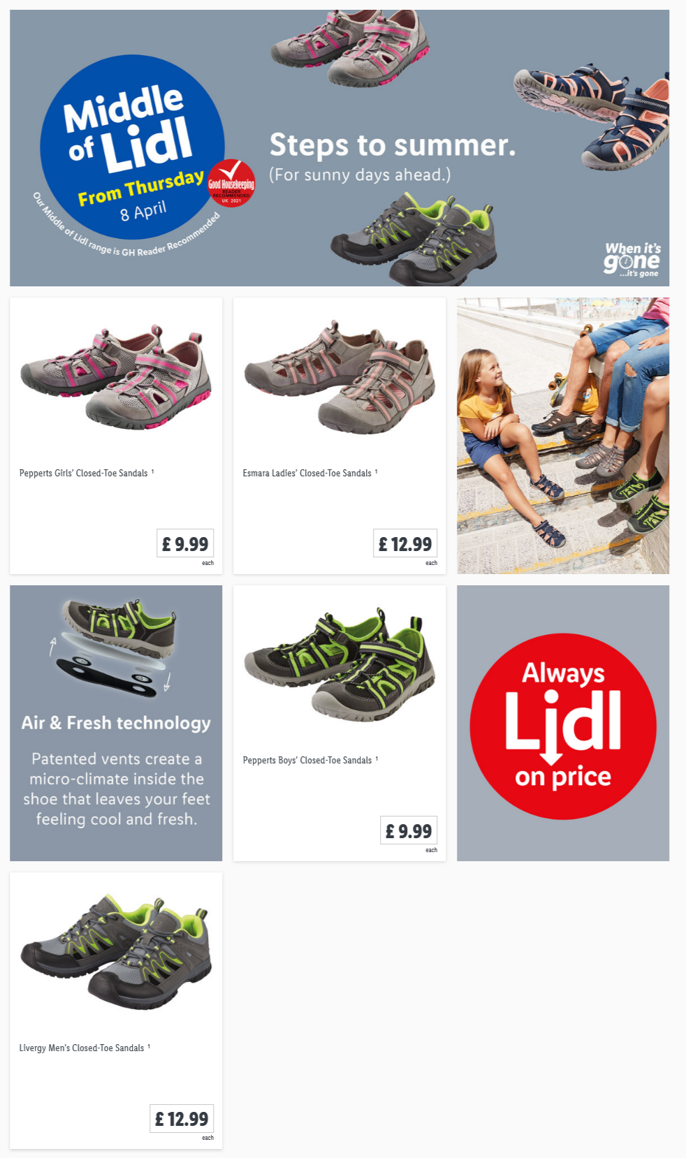 LIDL Offers this Thursday From 8th April 2021 LIDL Steps To Summer
