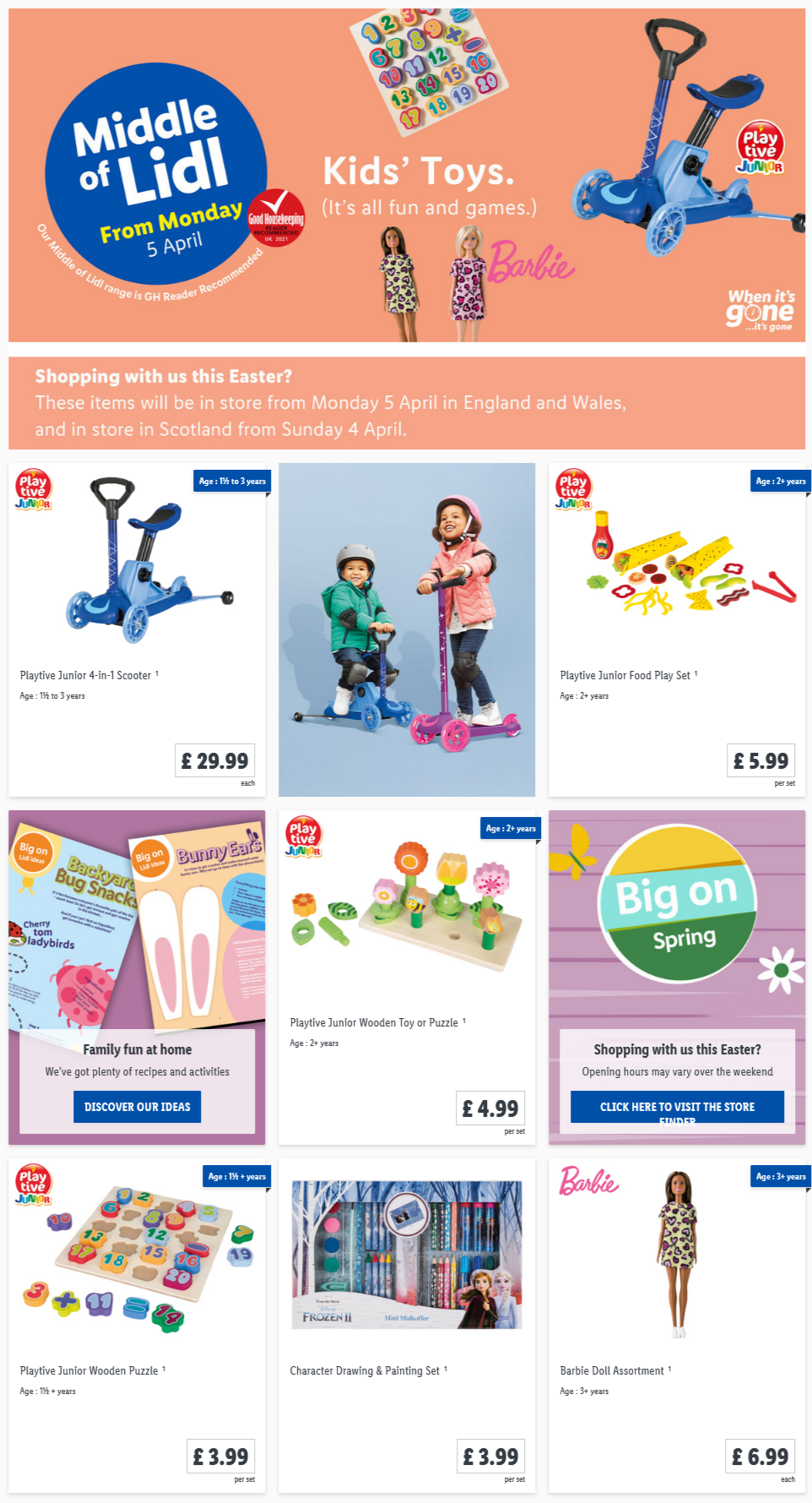 LIDL Monday Offers 5th April 2021 LIDL Kids Toys