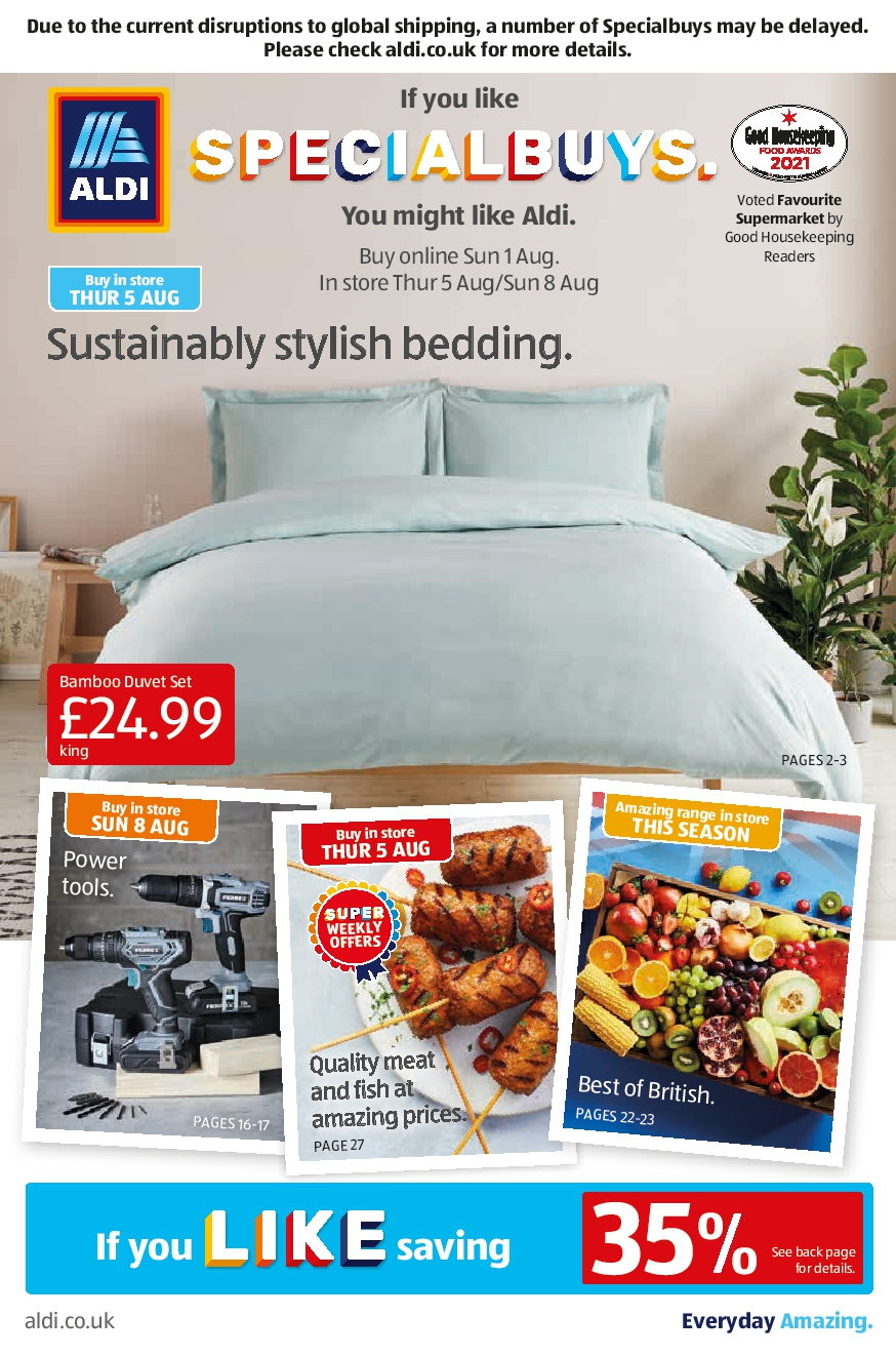 Aldi Leaflet Special Buys This Week 1st August - 8th August 2021