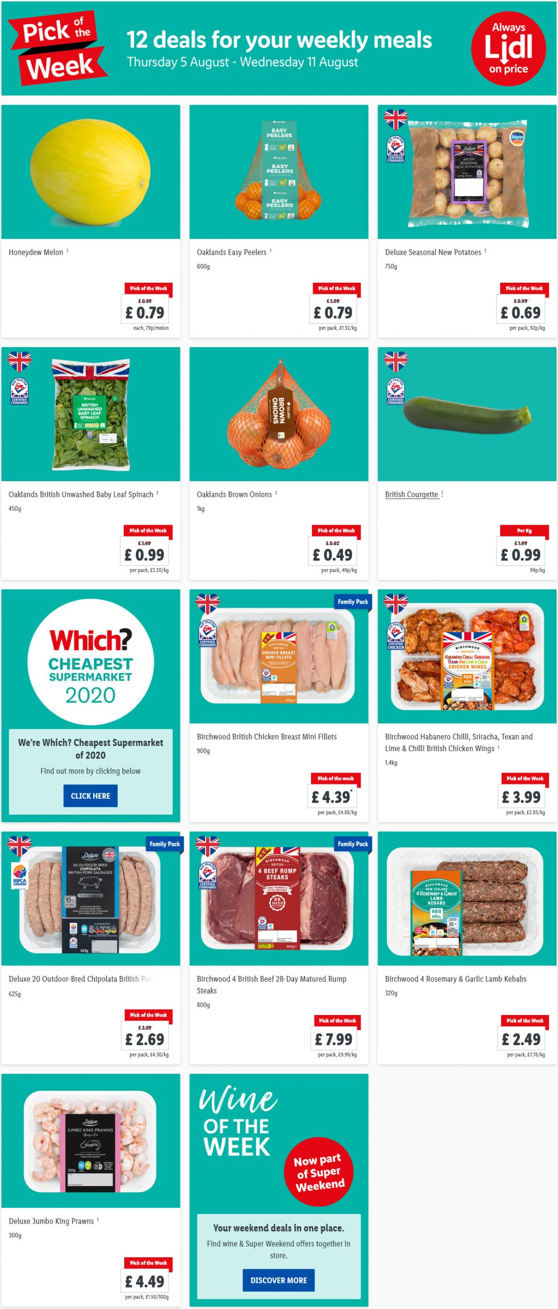 LIDL Pick of The Week 5th August - 11th August 2021