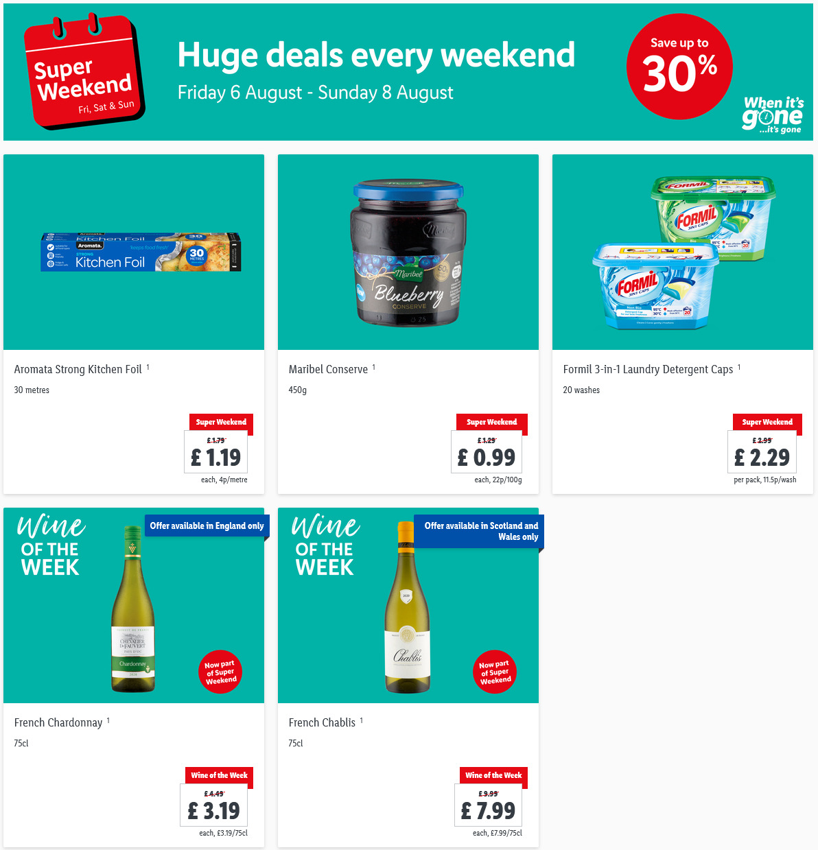 LIDL Weekend Offers from 6th August - 8th August 2021 LIDL Super Weekend